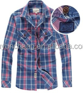 Oem corduroy shirts flannel shirts check shirts for men for Types of flannel shirts