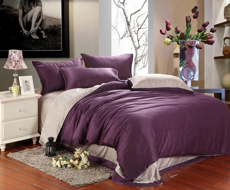 Luxury Purple Bedding Comforter Set King Queen Size Duvet