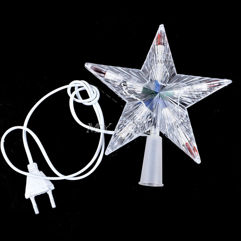 New 10 Led Indoor Outdoor Christmas Tree Topper Star