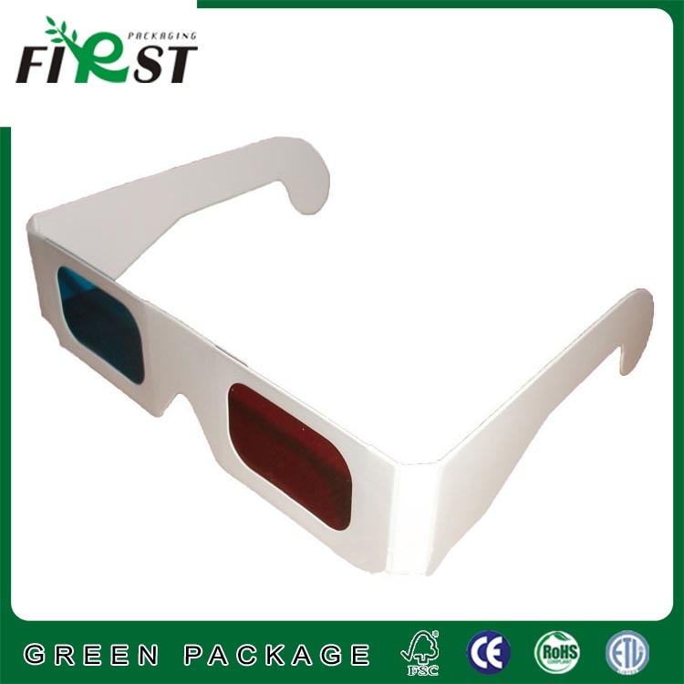 Custom logo Paper 3D Glasses 3d virtual video View Anaglyph Red Cyan Red/Green 3d Glass