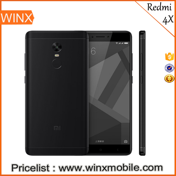 "2017 new product Original Redmi4X android phone 5.0"" FHD 13.0MP Camera 3gb ram 32gb rom 4 sim mobile phone Fingerprint ID"
