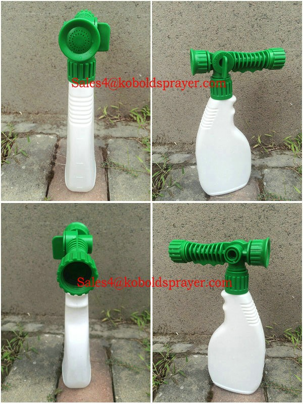 Tubo da giardino end spruzzatore, pet bottiglia spruzzatore