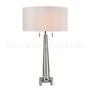 UL CUL Approved Modern Chrome Dual Hotel Crystal Table Lamp With Pulling Switches T80506