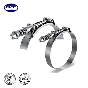 Heavy Duty T Bolt Spring High Quality Loaded Hose Clamp Stainless Steel Hose Clamp
