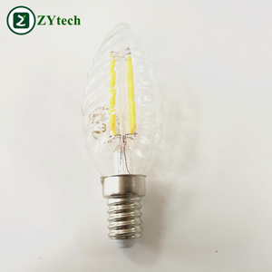 New Arrival Spiral Candle Light, E14 5w Led Filament for Decoration