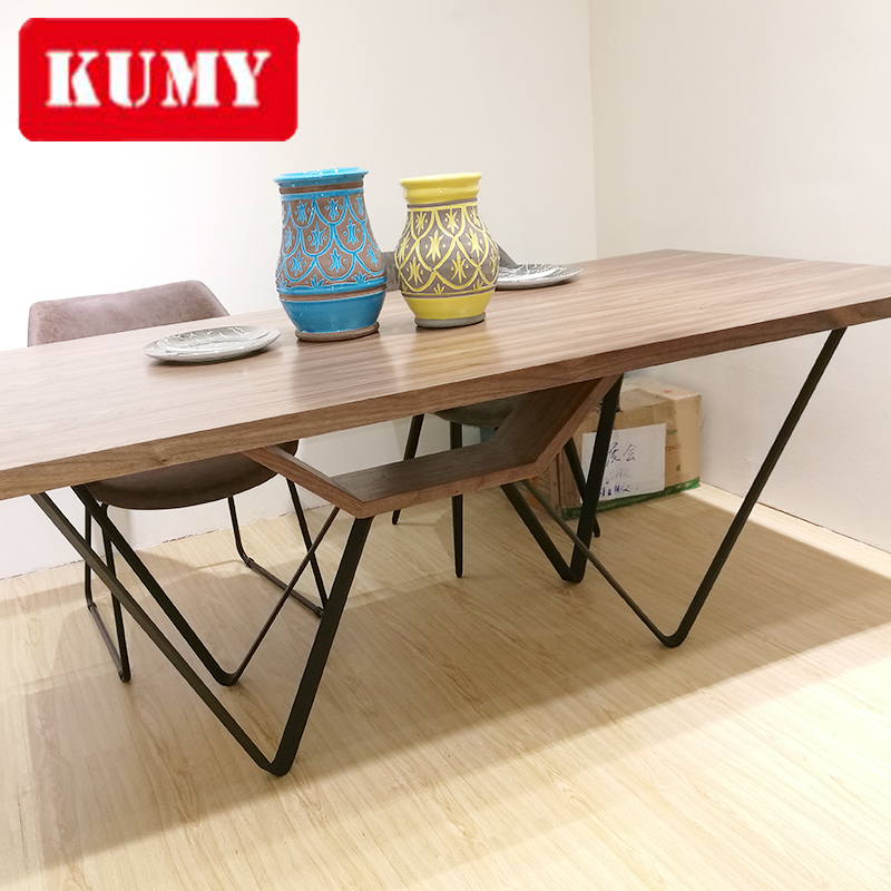 Favorable Price Household use rustic wooden dining table
