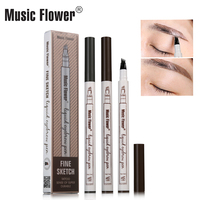 Original 4 Fork Mcroblading Tattoo Fine Sketch Waterproof Liquid Wholesale Eyebrow Pencils