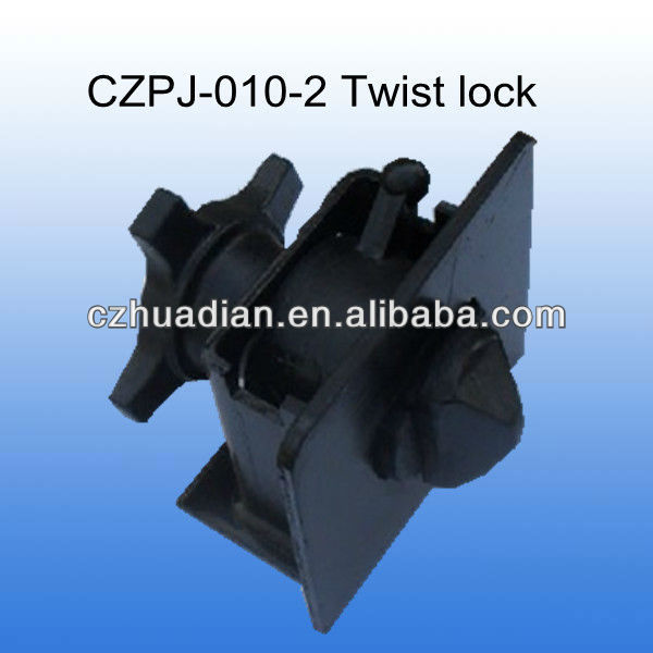 Black painting For fixing container purpose container chassis twist lock
