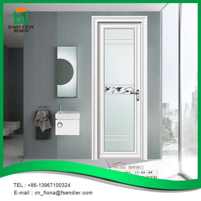 New Design Aluminum Frame Glass Swing Door Aluminium Bathroom Doors Philippines For Residential