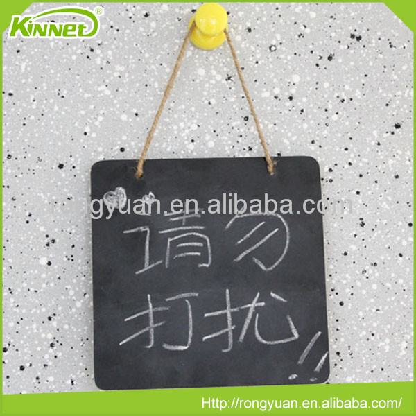 Top quality black frameless movable chalkboard wall hanging