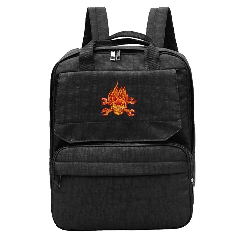 7bffeb80e74c Get Quotations · Fire Skulls Head Girl Backpacks Cool Backpack