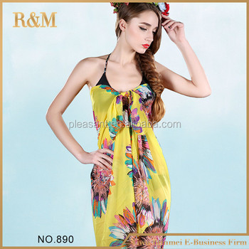 New arrival fashion printed cotton beach sarong and pareo