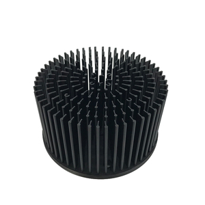 Custom 140mm cxb3590 aluminum cold forging pin fin round cob led heat sink