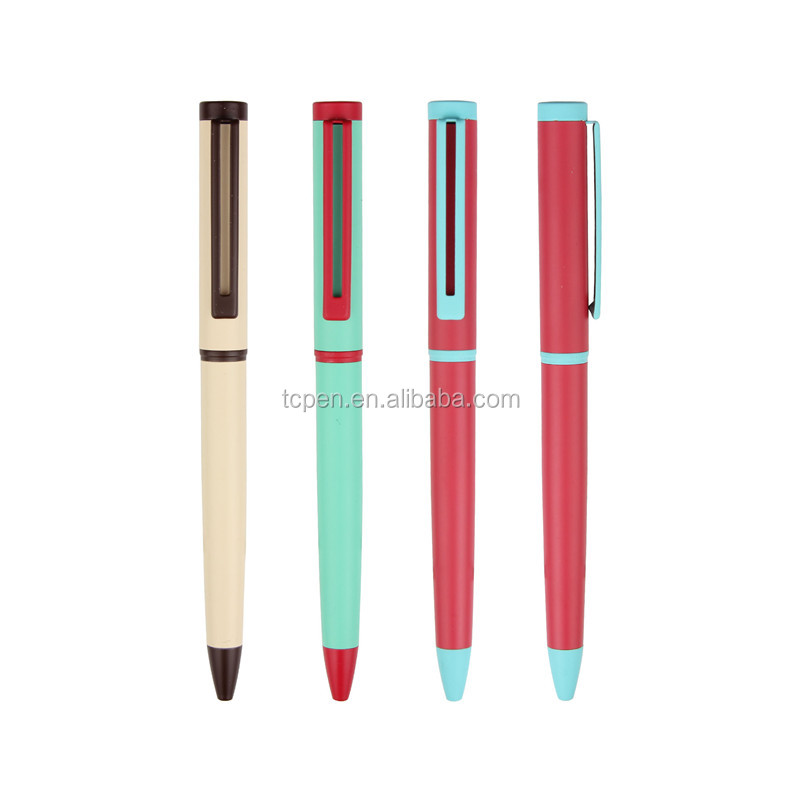 Metal Colorful Ball Point Pen Specifications for Promotion