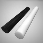 Black and white extruded hard plastic POM rod