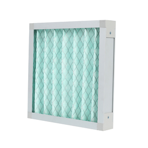 F6 pleated panel green filter