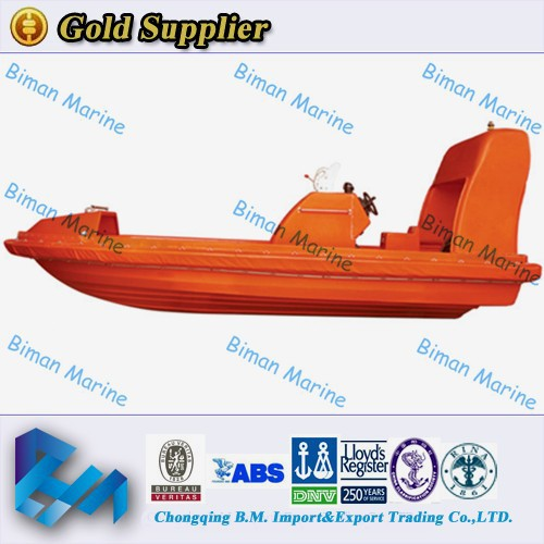 Marine Rescue Equipment Solas Rigid Inflatable Boat For 9 Persons