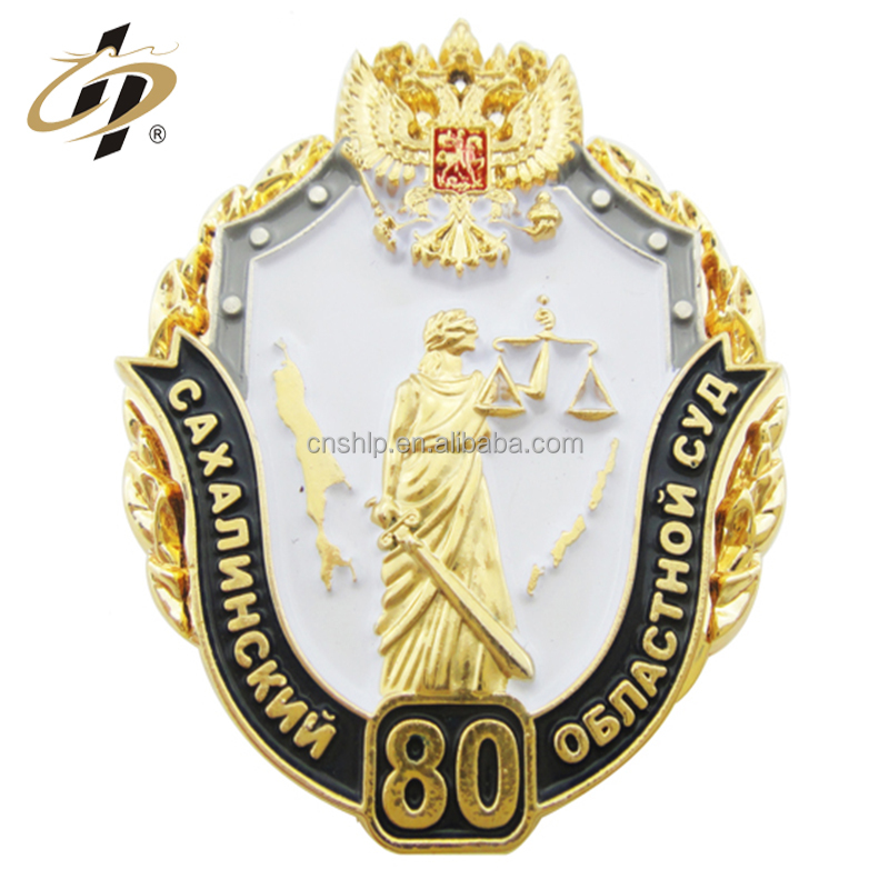 wholesale high quality design your own logo enamel cheap security metal badges