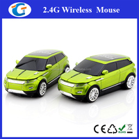 New 2.4G race car shape Wireless Mouse Cordless Mice USB white red green select