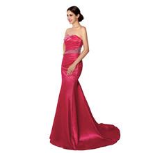 Сексуальное платье Русалочки, расшитое бусинами, недорогое в наличии фиолетовое сатиновое платье без бретелек большого размера, летние веч...(Китай)