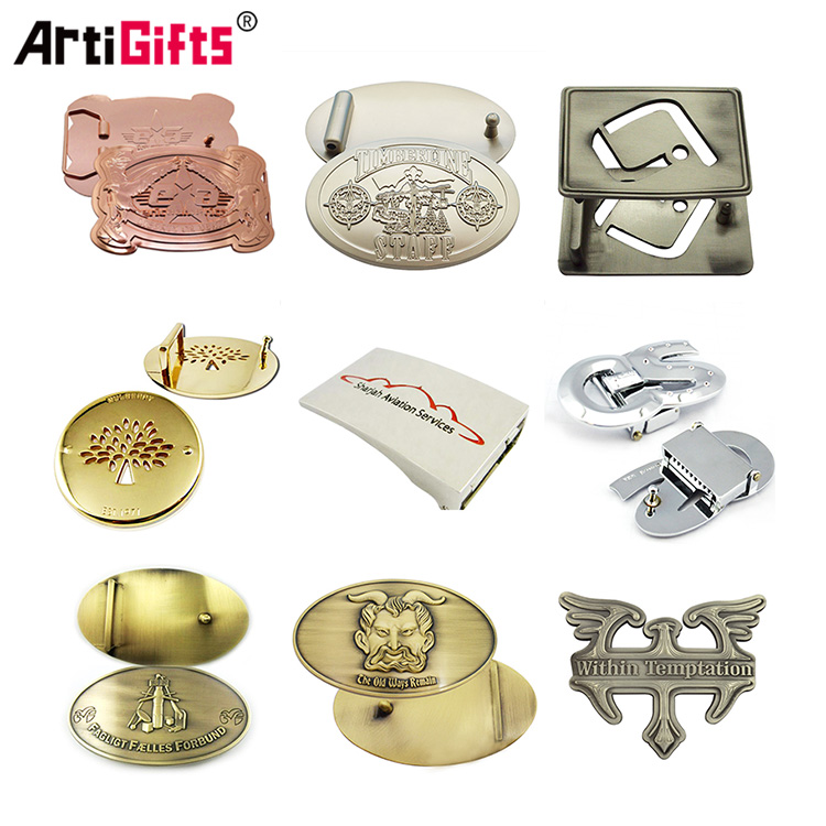 Free sample personalized antique brass custom 3d metal marine belt clamp