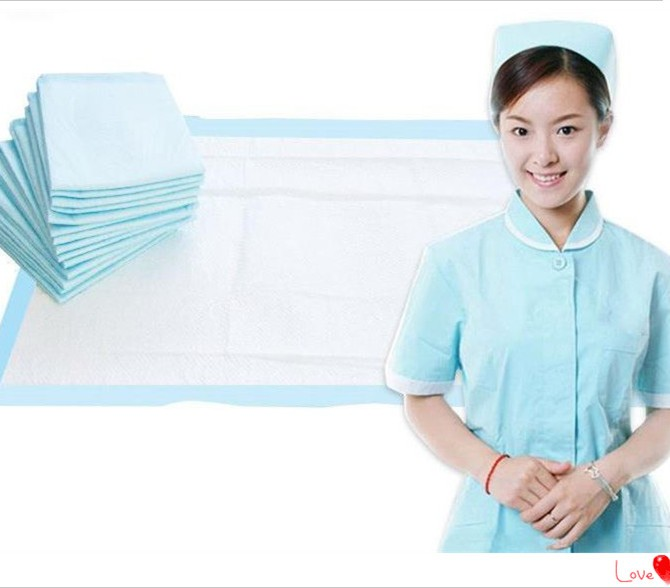 Disposable Underpads 60x90 โรงพยาบาลพยาบาลผ่าตัดทางการแพทย์ย่อยสลายได้ผู้ใหญ่ปัสสาวะ pad