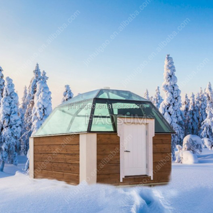 Geodesic Dome Tent Glass Igloo For Hotel Dome House