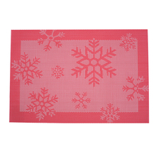 Tabletex waterproof insulation pvc woven christmas placemats