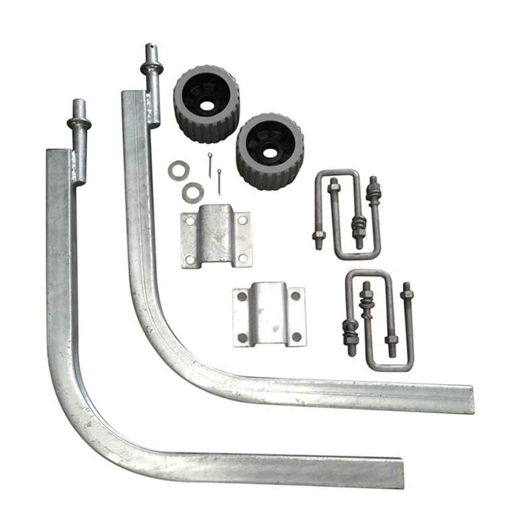 Roxom Boat Trailer Guide-On Pole Kit With Rollers. Replacement Boat Trailer Parts For Your Ski Boat, Fishing Boat, Sail Boat, Bass Boat, Jon Boat, Air Boat. Trailer Post Guide-On.