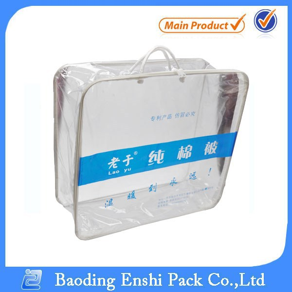 China supplier costomized plastic packaging cosmetic pvc package bag with logo printing