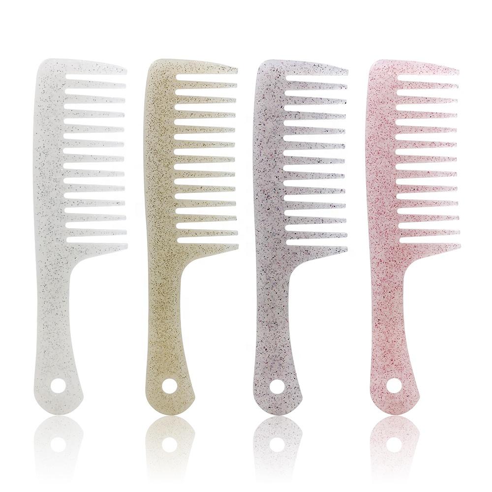 Personnalisé Magique De Salon de Couleur Large Dents Peigne À Cheveux En Plastique Étoile Brillante Couleur Lisse Démêlant Peigne à Cheveux