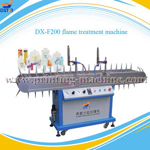 DX-F200 semi automatic PP/PE/HDPE/PVC/PET product surface flame treatment machine