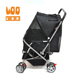 Outdoor large dog stroller removable cage dog carrier trolley pet stroller