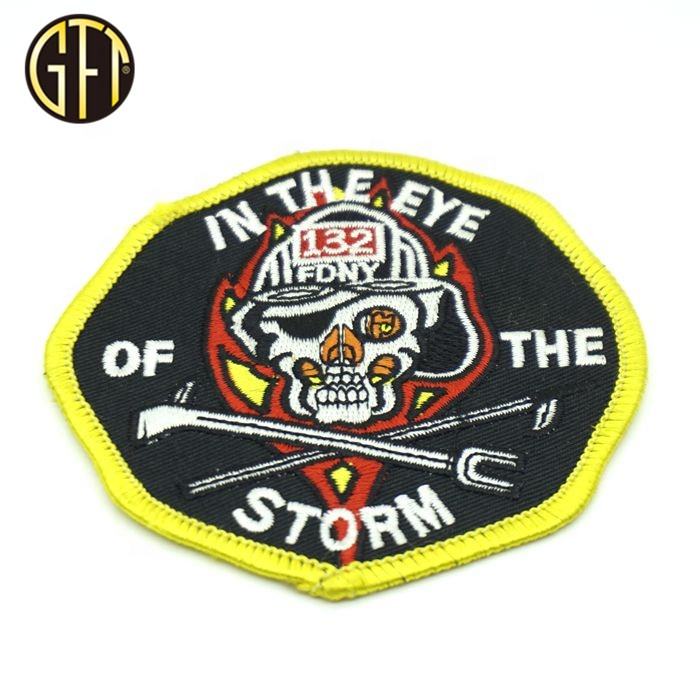 Hot sale new design customized round  patches with woven embroidery badge