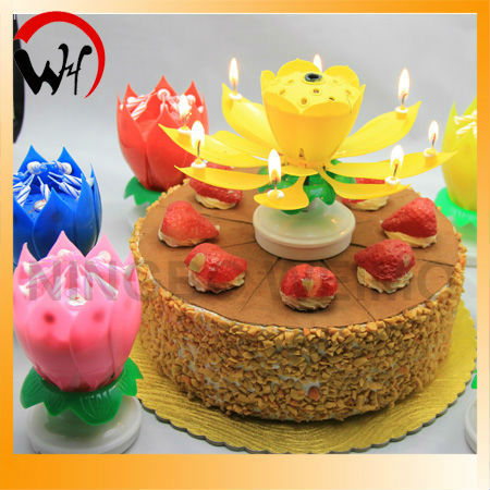 China Musical Flower Birthday Candle Wholesale