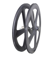 DengFu UD matt fixed gear 700c carbon fiber 5 spoke bicycle wheel