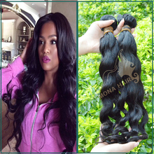 Hair pattern last for long time can get wet virgin Chinese hair good texture natural wave weaving human hair