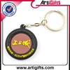 Factory direct sale custom made circle transparent picture frame plastic key ring