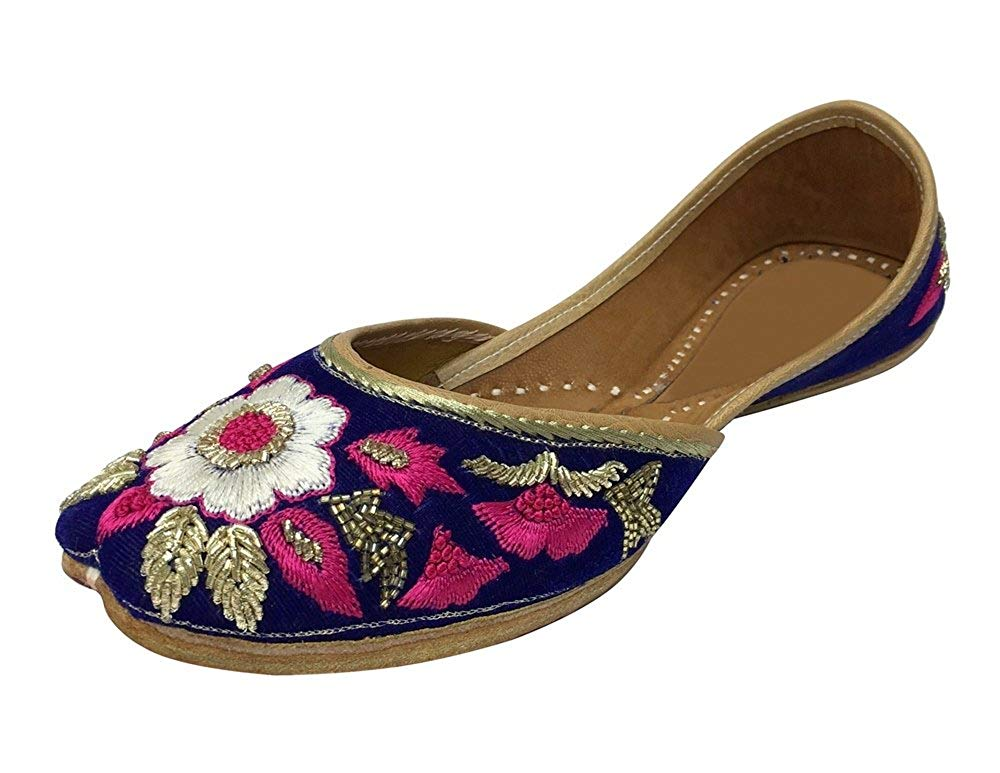 0ad76830989 Get Quotations · Step n Style Indian Bohemian Bridal Khussa Shoes Jutti  Indian Ethnic Jutti