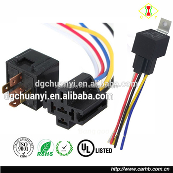 Hot Seller 5 Pin Relay And 5-wire Relay Sockets 12v Dc 40 Amp Spdt on