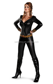 Black Widow Bustier Sexy Superhero Women Costume Halloween Costumes Qawc 8761 Buy Superhero Costume Black Widow Costume Halloween Costumes Product