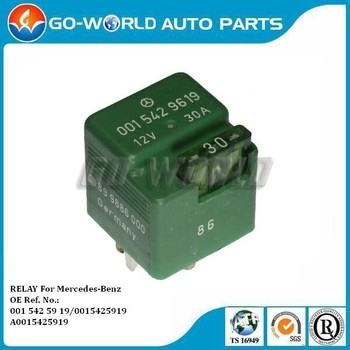 For Mercedes W124 R129 W201 W202 Aux Fan Fuel Pump Relay 0015429619 001 542  59 19 Oe Part - Buy 0015429619,Fuel Pump Relay,Relay For Mercedes-benz