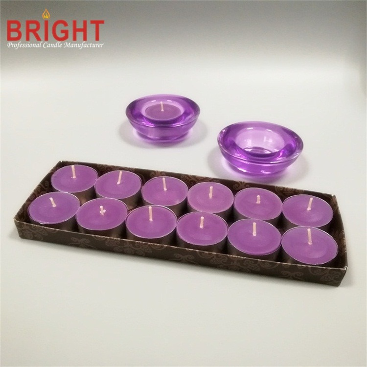 Scented Colored Small Led Flickering Wax Purple Candles