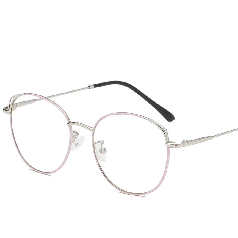 Jheyewear High quality Round Metal blue light blocking Eyeglasses Optical Frame 2019, Avalaible