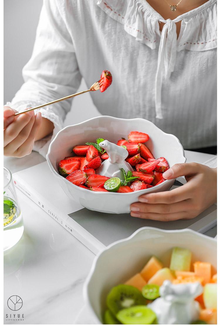 Ins Style Creative Design Wavy Rim White Ceramic Salad Fruit Bowl 2054 Buy Fruit Bowl Ceramic Salad Bowl Wavy Rim Bowl Product On Alibaba Com