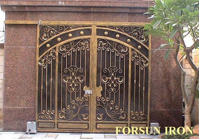 casa de aluminio puerta de puerta de hierro forjado puerta