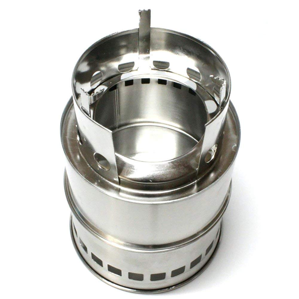 FLBTY Camping Stove Wood Stove Outdoor Wood Stove Portable Stainless Steel Wood Burner