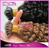 Top 6a grade 100% virgin real brazilian human hair wavy nano loop ring hair extensions