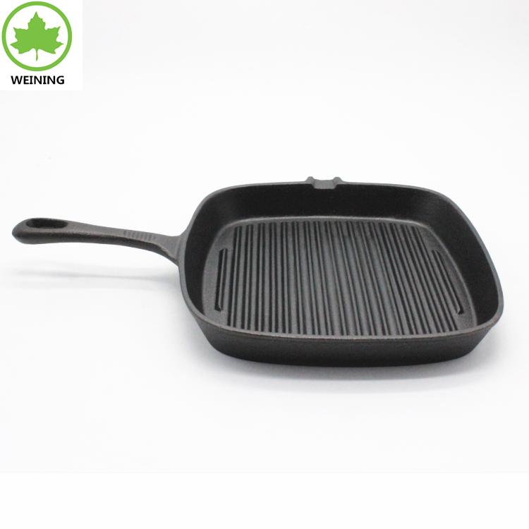 """Fonte Poêle 10/"""" Four Fry Pan Pot Cookware pré-assaisonné Fonte Poêle"""
