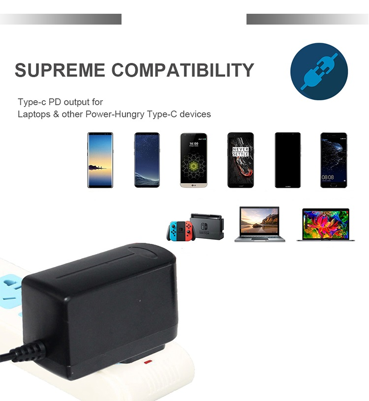 universal type c adapter 12v 2a usb type c 3.1 adapter type c adapter charger